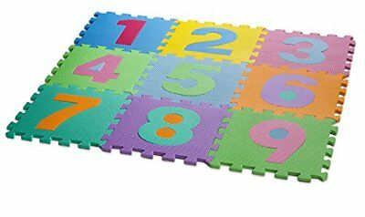 HemingWeigh Kid's Multicolored Numbers Puzzle Play Mat Blocks Tiles Mats Toys