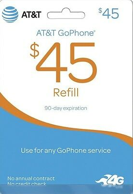 AT&T - GoPhone $45 Top-Up Prepaid Card