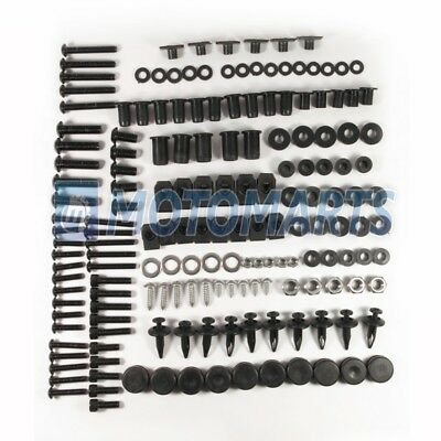 Black Fairing Bolt Kit Fasteners Screws for Honda CBR 600 RR 2007 2008 600RR