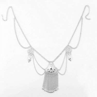 Sequins Fashion Gold Plated Silver Plated Jewelry Tassel Belly Belt Body Chain