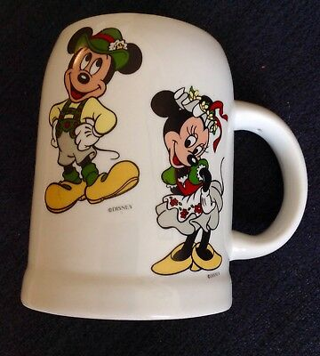 Disney Mickey & Minnie Reutter Porcelain Beer Mug only available in EPCOT