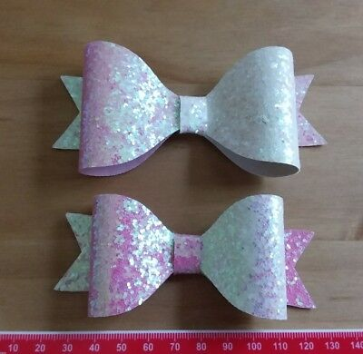 Half and Half  Plastic Bow Template 6 Pieces - Hair Bow/ Crafts Medium and Large