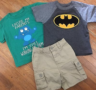 Ralph Lauren Bateman boys baby 18m shorts shirts lot