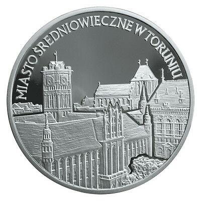 2007 Poland 20zl SILVER proof - Medieval Town of Toruń