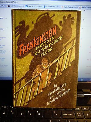 Levy, Elizabeth &  FRANKENSTEIN MOVED IN ON THE FOURTH FLOOR Book Club Edition