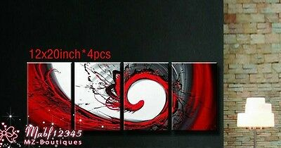 YH023B 4PCS hand paint art oil painting on canvas Abstract Phoenix NO Frame