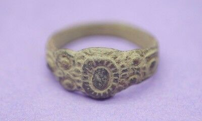 Jacobean period bronze decorated ring 17th century AD
