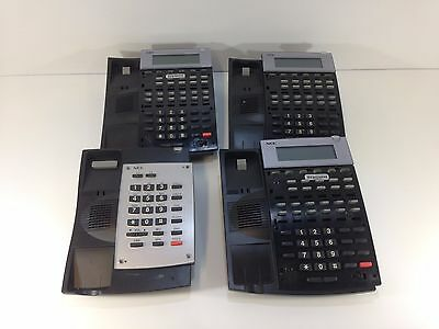 Lot of 4 NEC Aspire 22B 2B IP1NA-12TXH IP1NA-DSLT Display Phones Black