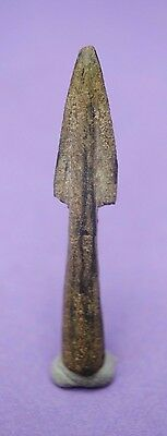 Ancient Greek bronze bi-lobate socketed arrow head 1st millennium BC