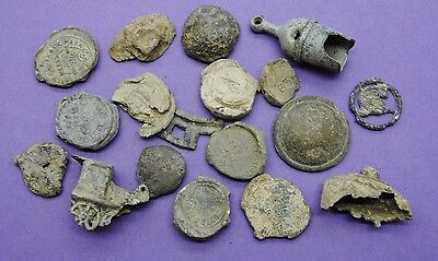 Interesting mixed lot of lead UK metal detector finds