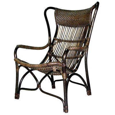 Tropical Natural Rattan Sun Chair Outdoor Armchair Furniture - Local Pickup Only