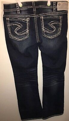 Women's Silver Jeans Tuesday Low Boot Cut Size 32 X 31 Medium Wash Blue Denim
