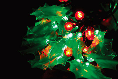 120 LED 10.9m 40 Holly & Berry Christmas Wedding Party String Lights