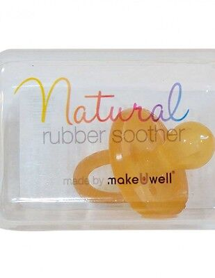 Natural Rubber Baby Soother Round 0 - 3 Months One Piece Plastic Free Dummy