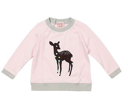 Baobab Organic Cotton Baby Girl Jumper Pink with Deer | BNWT