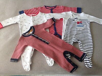 mixed baby boy jumpsuits - next baby and jack and milly size 00 (3 to 6 months)