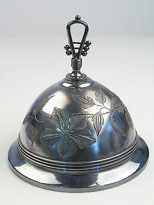 Antique Silverplate Dome Lid Cover Finial 5-7/8 Opening Plate Dish Bowl