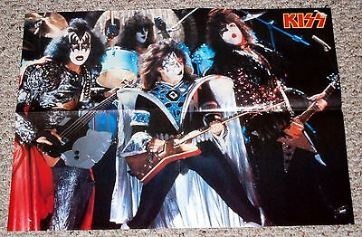 KISS 1980 Unmasked Talk To Me Video Poster Magazine Centerfold Frehley Aucoin