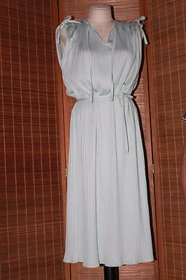 Vtg 60s/70s Mint Goddess Ruched Tie Pin-Up Marilyn Cocktail Wedding Party Dress