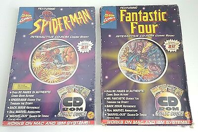 Spider-Man & Fantastic Four Interactive CD-ROM Comic Book 1st Issue 1995 Toy Biz