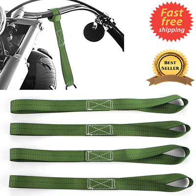 Soft Loops Motorcycle Tie Down Straps Ratchet Strap for ATV Truck Cargo Set of 4