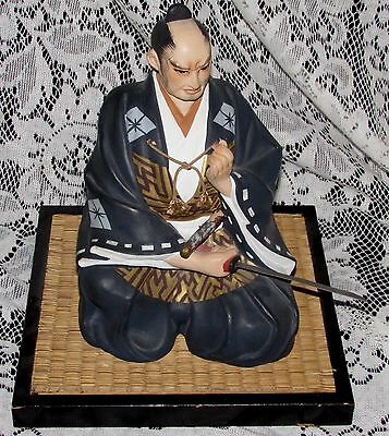 Highly Detailed Japanese Hakata or Similar Warrior Doll and Base  Buy It Now