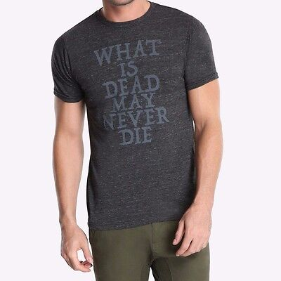 Game Of Thrones WHAT IS DEAD MAY NEVER DIE HOUSE GREYJOY T-Shirt NWT Licensed