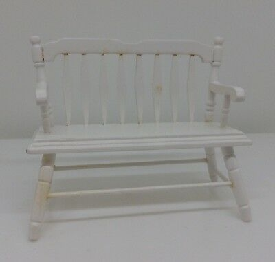 N44 Dollhouse Miniature Bench In 1:12 Scale Furniture Doll House Mini Decor Room