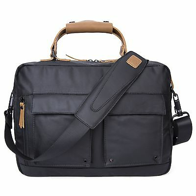Black Men's Canvas Business Briefcase Messenger Bag Handbag Laptop Shoulder Bag