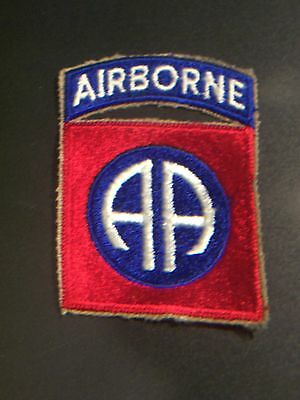 WW II 82 nd. AIRBORNE PARATROOPER PATCH WITH ATTACHED TAB