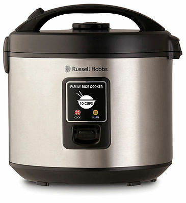 NEW Russell Hobbs 10 Cup Family Rice Cooker Stainless Steel (2Y Warranty) RHRC1