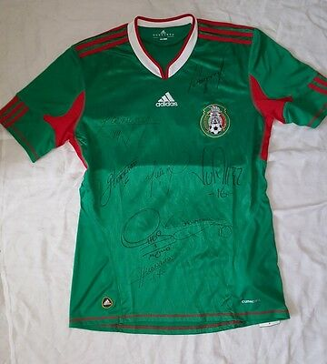 2010 Mexico World Cup Soccer Jersey Signed by Cuauhtemoc Blanco and many more