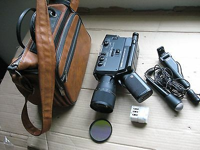 Bauer S715XL Microcomputer Camera w/Angenieux Macro 6-90MM,f/1.4 Zoom lens, Case