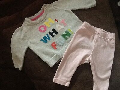 baby gap girl 2 pc outfit size 0-3 months
