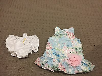 Pippa And Julie Baby Girls Floral dress Size 0-1