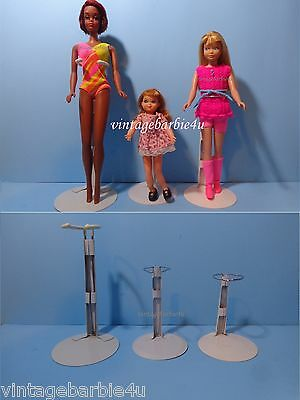 BARBIE JAMIE FRANCIE SKIPPER TUTTI DOLL STANDS for Mattel Fashion Dolls size