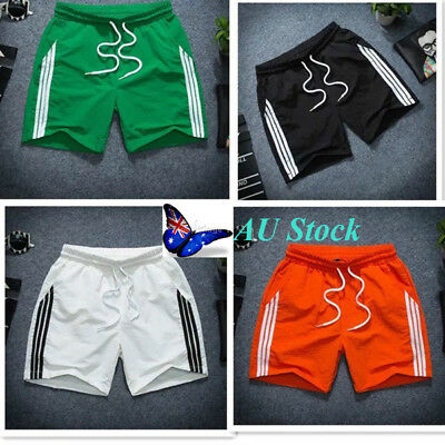 AU Men's Quick Dry Sports Gym Summer Beach Workout Running Short Pants Trousers