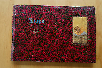 A Vintage Photo Album From The 1930's  45 Pages Of Photo's & Post Cards