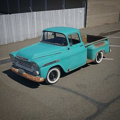 1959 Chevrolet Other Pickups APACHE SWB BIG WINDOW SHORT BED APACHE TRUCK PATINA BARN FIND HOT ROD RAT 55 56 57 58 VTG