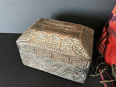 Old Tibetan Carved Wooden Box …beautiful carving and nice age and patina