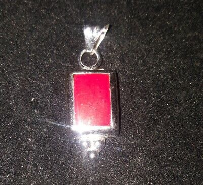 sterling silver red charm