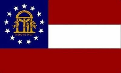 GEORGIA STATE FLAG 3 x 5 BANNER INDOOR OUTDOOR LIGHT WEIGHT POLYESTER