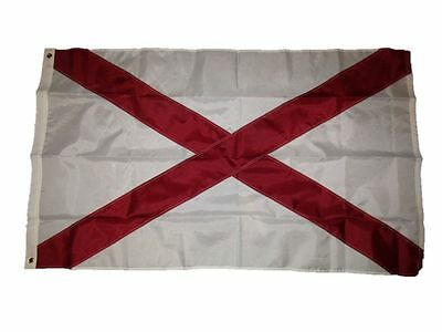 ALABAMA STATE FLAG 3 x 5 BANNER INDOOR OUTDOOR LIGHT WEIGHT POLYESTER