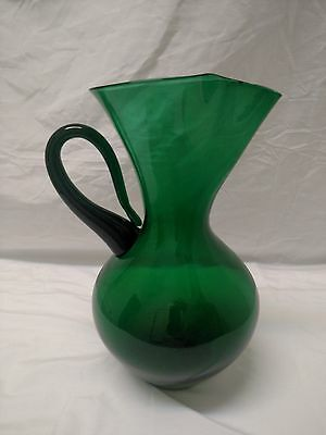 905H Blenko Cocktail Pitcher in green- Winslow Anderson 1940s MCM