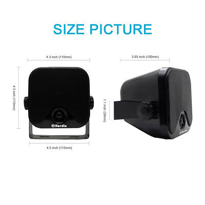 100% Brand New Self-contained Pod Speakers With Mounting Brackets Outdoor Boat