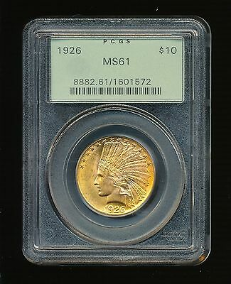 1926-P $10 Gold Indian Head Ten Dollar Gold Eagle PCGS MS 61