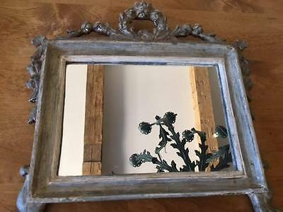 Antique French Provencal Carved Wooden Mirror