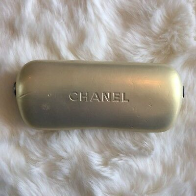 Chanel Pearl White Ivory Sun Glasses Hard Shell Protective Glasses Case
