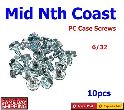 10pcs Toothed Hex/Phillips Head 6/32 Hard Drive Motherboard Mounting Screws