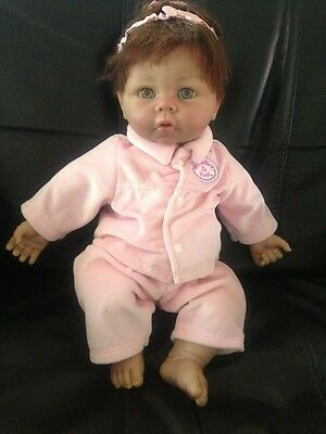"""2007 Irwin Toy Baby-So-Real Doll w Rooted Auburn Hair Realistic 18"""""""